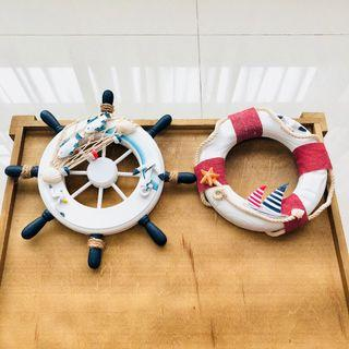 [For Rent] Nautical Steering Wheel & Lifebuoy Decoration