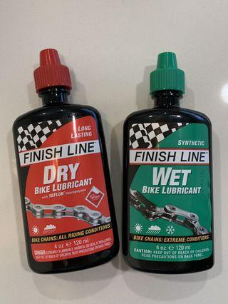 NEW Finish Line Wet $ Dry Bike Lubricant Lube 4oz 120ml