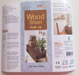 Magic-fix White Wood Sheet (Adhesive paper)