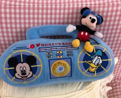 迪士尼米奇收音機公仔