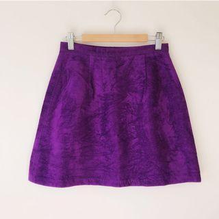 Velvet mini skirt skort size XS