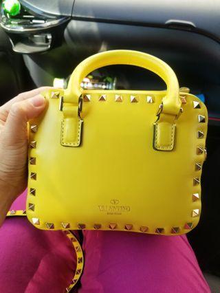 Yellow Valentino Garavani Rockstud Cross body Bag