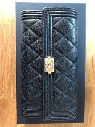 Chanel Boy Flap Wallet GHW