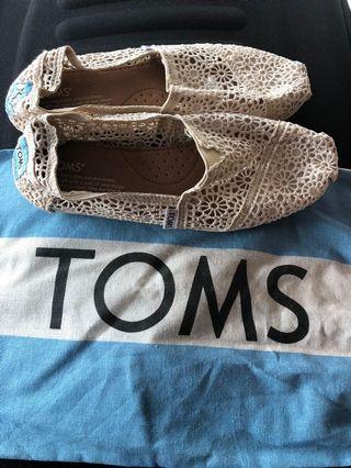 TOMS Floral Crochet Shoes