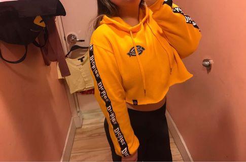 Dickies yellow crop hoodie
