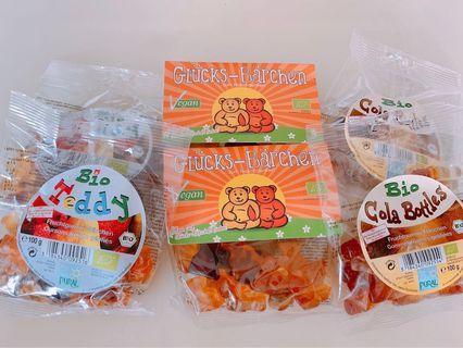 現貨 德國有機Bio小熊/可樂軟糖 QQ糖 100g/包