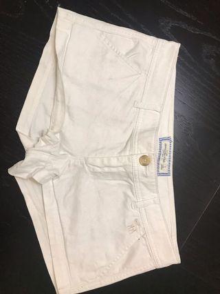 Abercrombie White Shorts Size 0