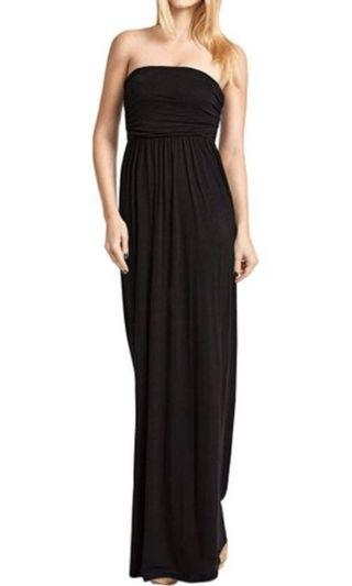 Mendocino Black Strapless Dress Size Small $15