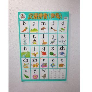 汉语拼音 (声母), Kid's Educational Poster