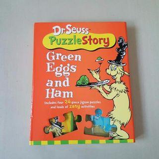 Dr. Seuss Puzzle Story: Green Eggs And Ham, Kid's Educational Book