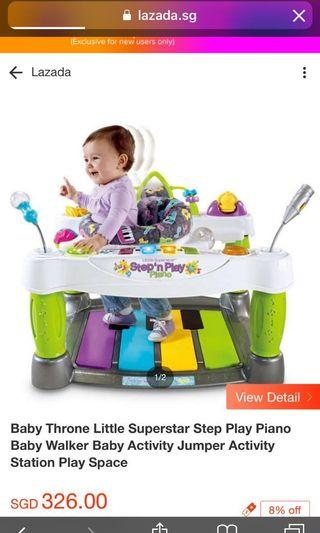 Fisher Price Step and Play piano baby walker