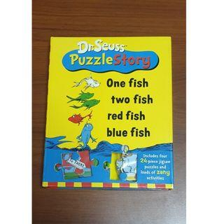 Dr. Seuss Puzzle Story: One Fish two fish red fish blue fish, Kid's Educational Book