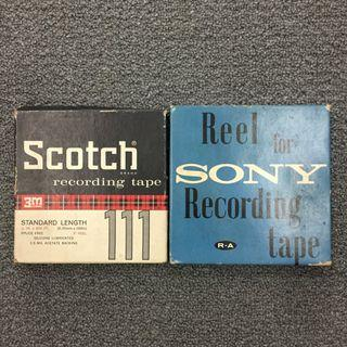"""5"""" Scotch, Sony Reel to Reel Recording Tapes, $120 for 2"""