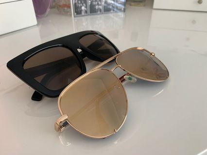 BOTH FOR $60 Quay Sunglasses - High Key and Cafe Racer