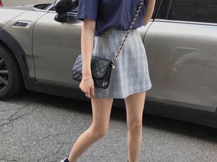 Mini Checkered Skirt