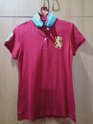 Giordano Red Polo Shirt Women