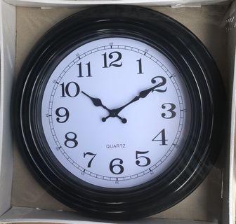 """Black Wall Clock 16"""""""
