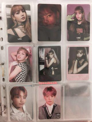 🚚 bts bangtan (g)i-dle blackpink bp twice photocard pc clearance tzuyu lisa jungkook soyeon kill this love square up love yourself answer yes or yes united cube