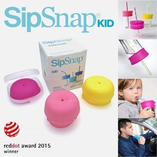 SipSnap KID Universal Silicone Drinking Lid, Rise n Shine — Straw Spill-Proof Stretchy Drink Cover Vessel For Kid Toddler Learning Training Cup Mug Travel Double Double Boon Snug Spout Penyedut Minuman Cawan Kanak 吸管杯盖