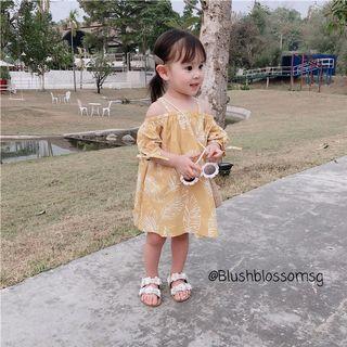 ⭐INSTOCK⭐ Off Shoulder Feather Design Summer Dress