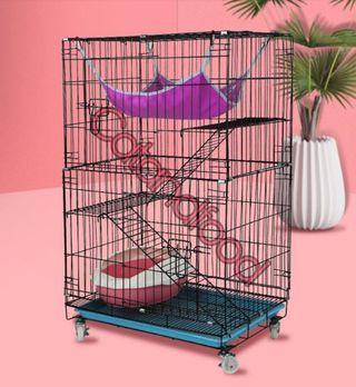 Cat 3 tier lever cage