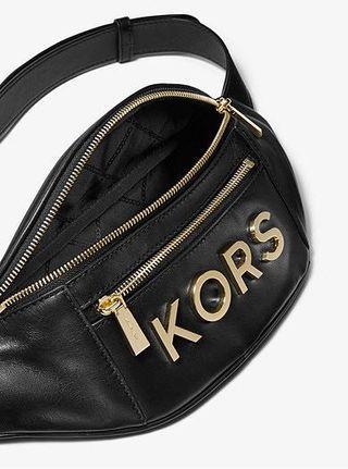 MICHAEL KOR Medium Embellished Leather Belt Bag 真皮腰包 有黑/白2隻色