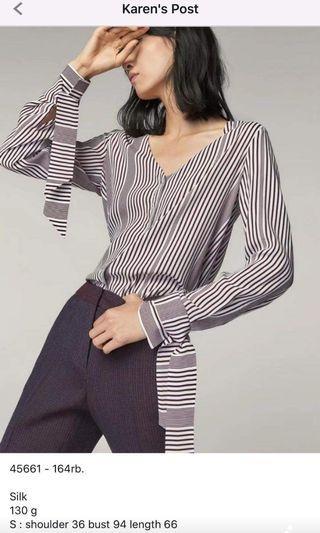 Stripe top/blus garis-garis