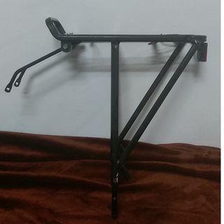 Rack adjustable for 26 or 28 inch Mountain bike, Road bike, City bike, light stays aluminum