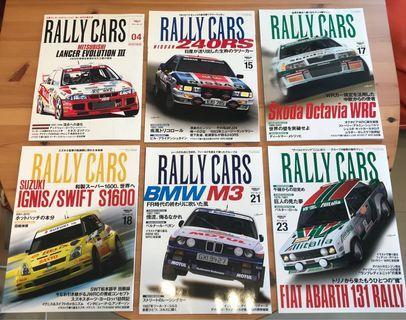 全新Rally Cars日本賽車雜誌共六本