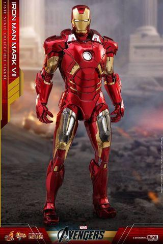 🚚 (RESERVED) Hot Toys Iron Man Mark 7 Normal Diecast MMS500D27