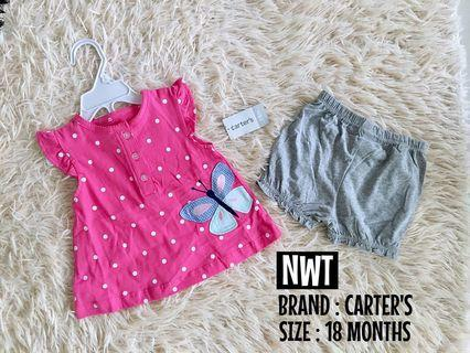 NEW CARTERS SET TOP & PANTS 18Months