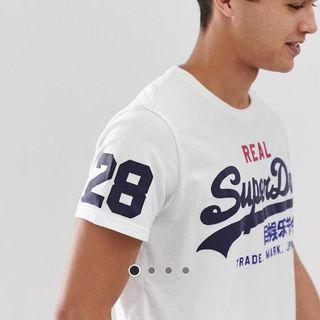 Superdry Logo T-Shirt in White (XS)