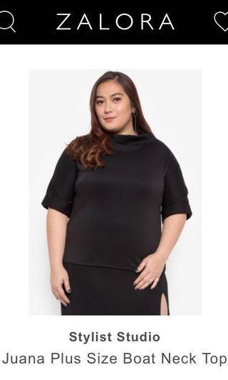 Harlan Holden Inspired High Neck Neoprene Black top blouse