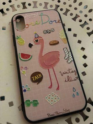 Case iPhone X flaminggo
