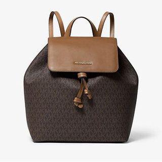 MICHAEL KORS Junie Medium Logo Backpack MK logo背包 有2個色 文青書包