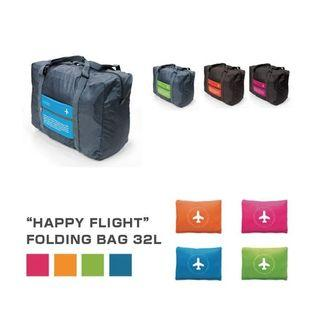 """Happy Flight"" Folding Bag - Foldable Travel Bag"