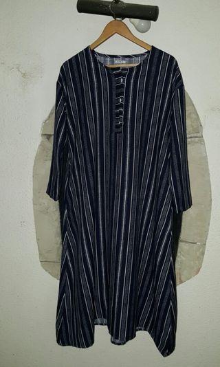 #maudandan Navy Stripes long Dress