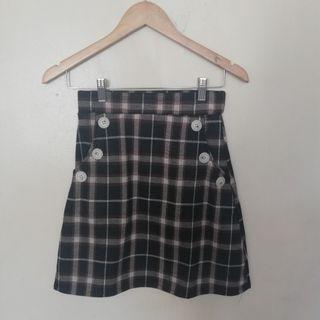 Plaid skirt with pockets
