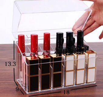 透明唇彩唇膏口紅收納盒 18格