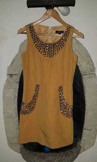 Mustard Studded Dress