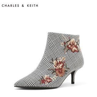 Keith & Charles flora embroidery boot 格仔織花短靴