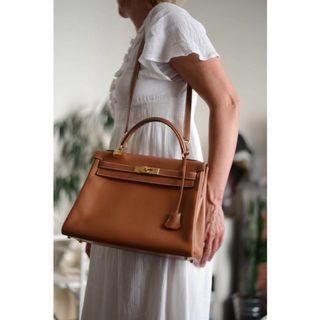 Brown Kelly Top Handle Bag