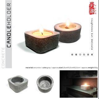 creative handicraft concrete candle holder