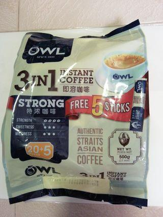 Owl 3 in 1 Strong Coffee 25's