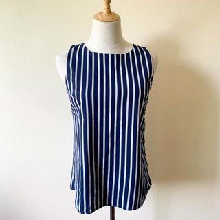 Stripes Sleeveless Top