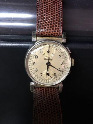 Rare vintage Breitling Doctor's chronograph Watch with Flexi Lugs