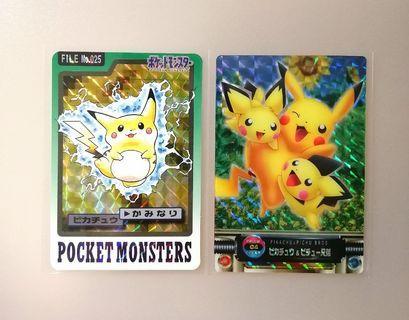 Vintage Pikachu Japanese Cards
