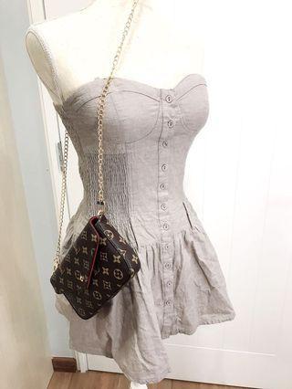 Designer Flare Grey Dress