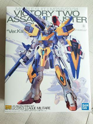 全新 P-Bandai 魂限 MG 1/100 VICTORY TWO ASSAULT BUSTER GUNDAM Ver.Ka V2 高達