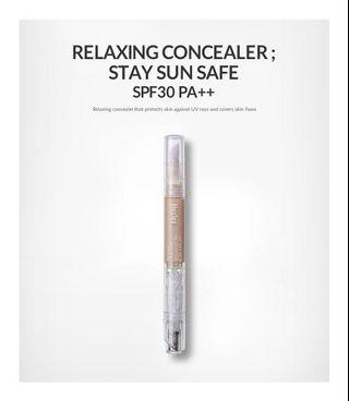 BNIB HUXLEY Relaxing Concealer Stay Sun Safe SPF30+ PA++